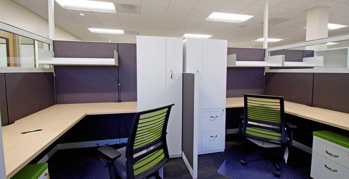 Tuality MIS Office Cubicles Close Up