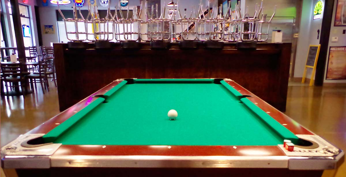 Hillside Pub Pool Table