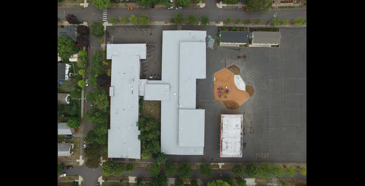 PPS Astor finished roof with playground